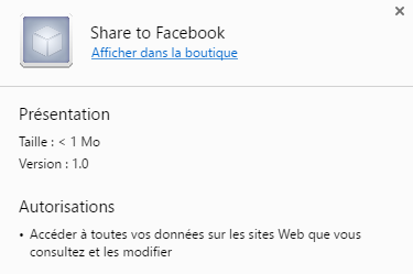 Facebook Share Extension Chrome