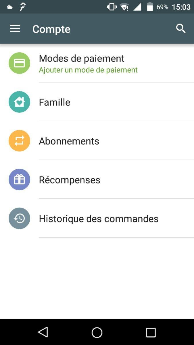 google play store famille groupe