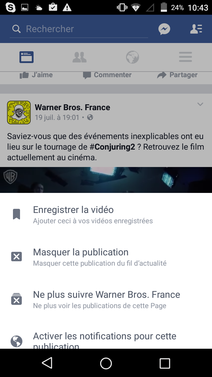 Facebook android hors ligne