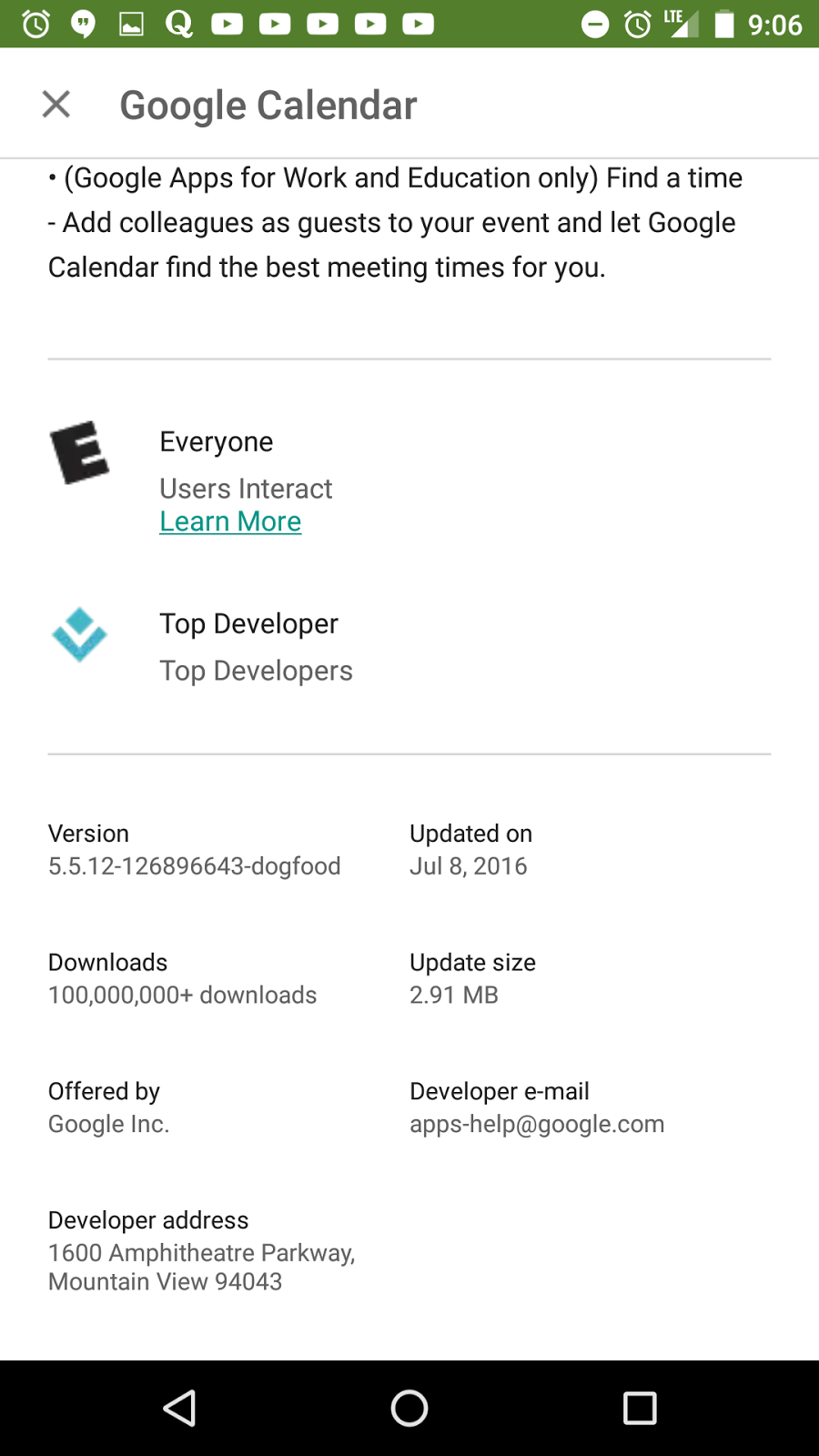 Google Play Store algorithme