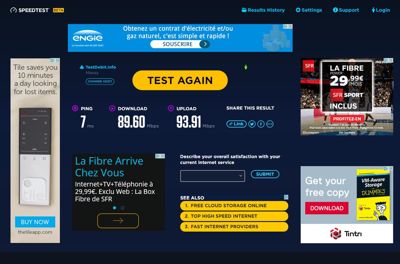 Speedtest propose une extension Chrome et veut mesurer la