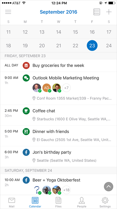 outlook ios android