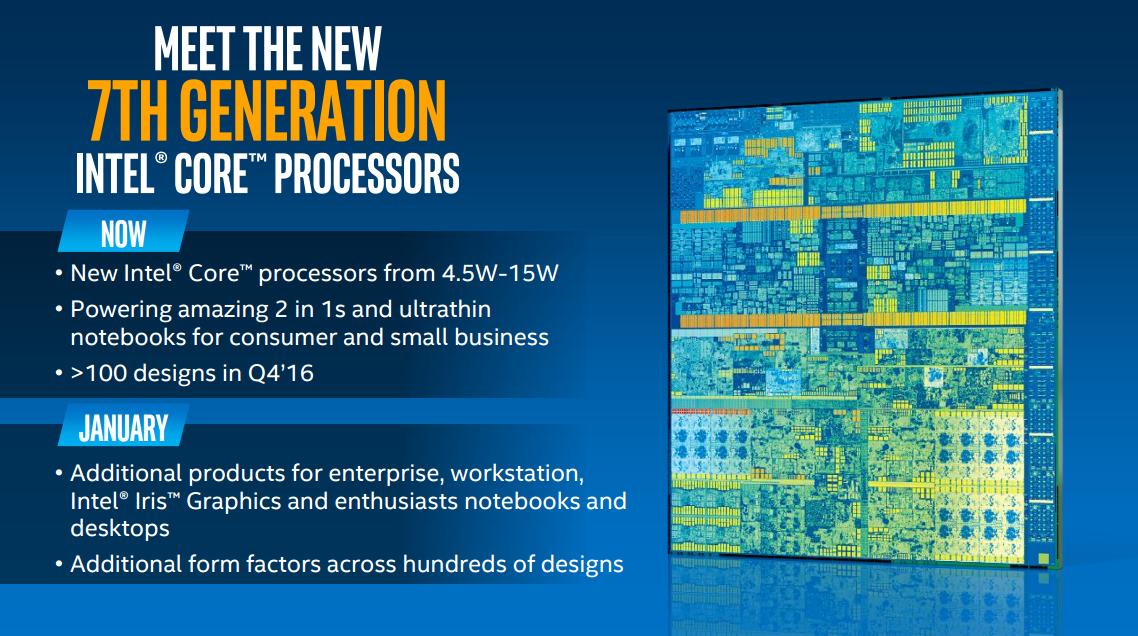 Processeurs Intel Kaby Lake : les cartes mères se mettent à