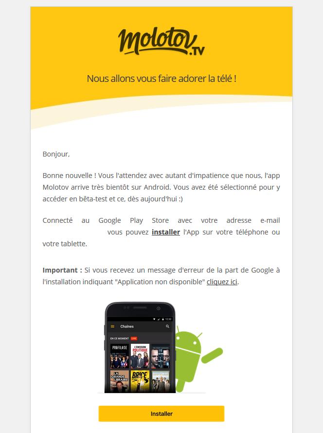 Molotov Beta Android
