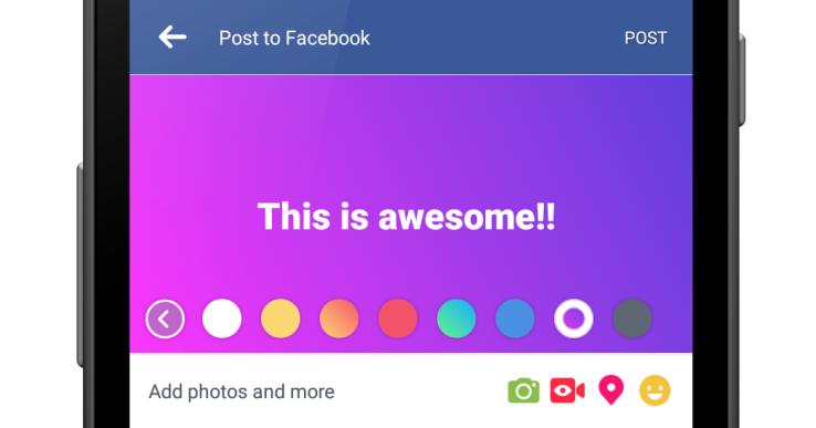 Facebook couleurs fond