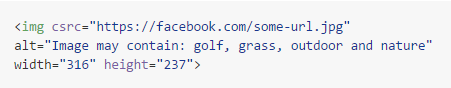 code facebook tags