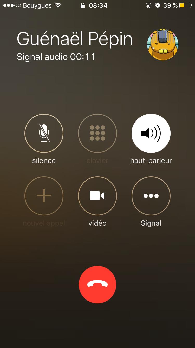 signal appels vidéo