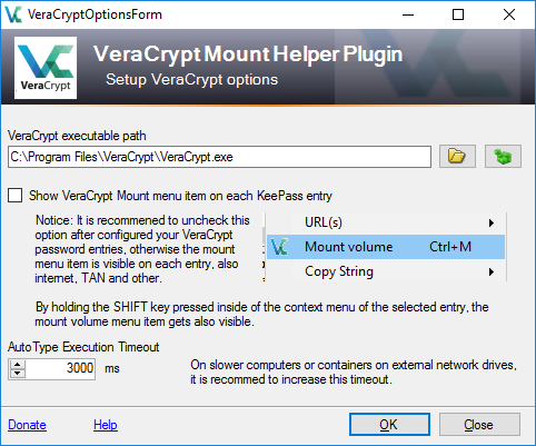KeePass VeraCrypt