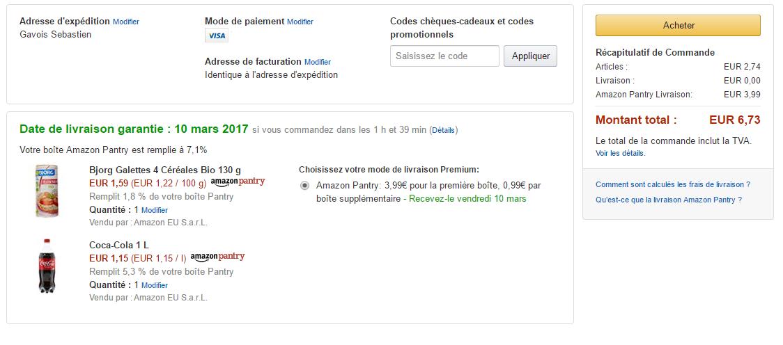 Amazon Lance Pantry En France Son Service De Livraison Pour