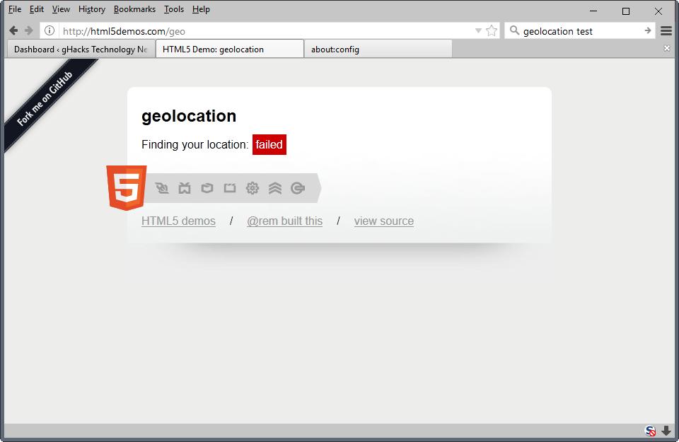 Firefox 55 bloquera la g olocalisation pour les sites sans for Bloquer fenetre publicitaire chrome