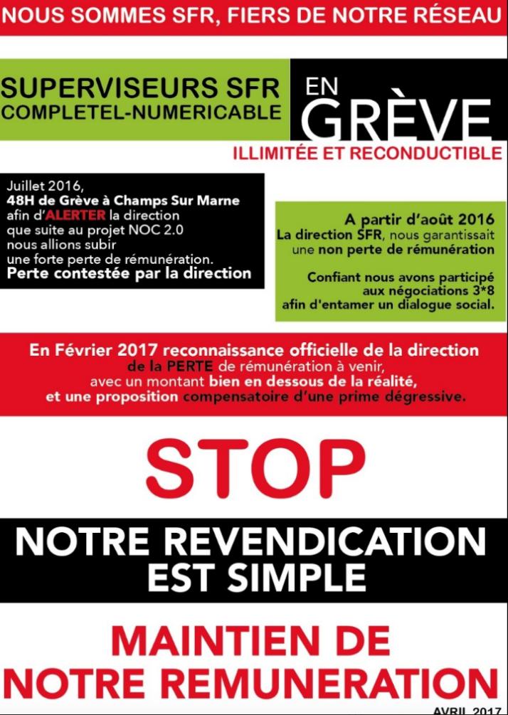 SFR supervision grève