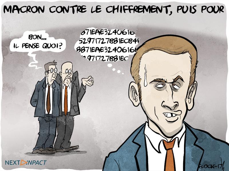 Chiffrement : Emmanuel Macron en Marche arrière