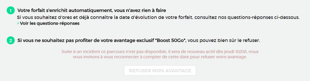 Red By Sfr Vous Pourrez Refuser L Ajout Du Boost Data Payant Des