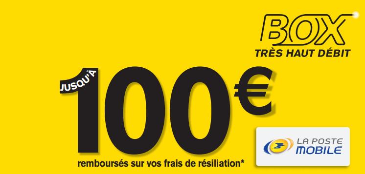 100 € remboursement la poste