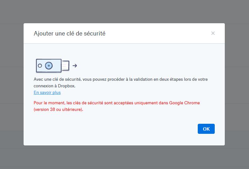 Dropbox U2F Firefox