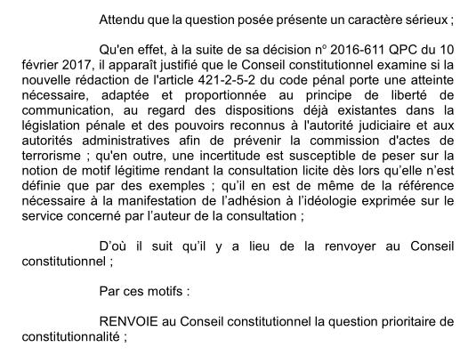 consultation habituelle cour de cassation QPC