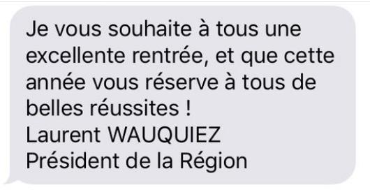 sms laurent wauquiez