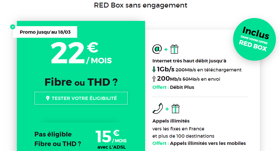 RED Box Promotion mars 2019