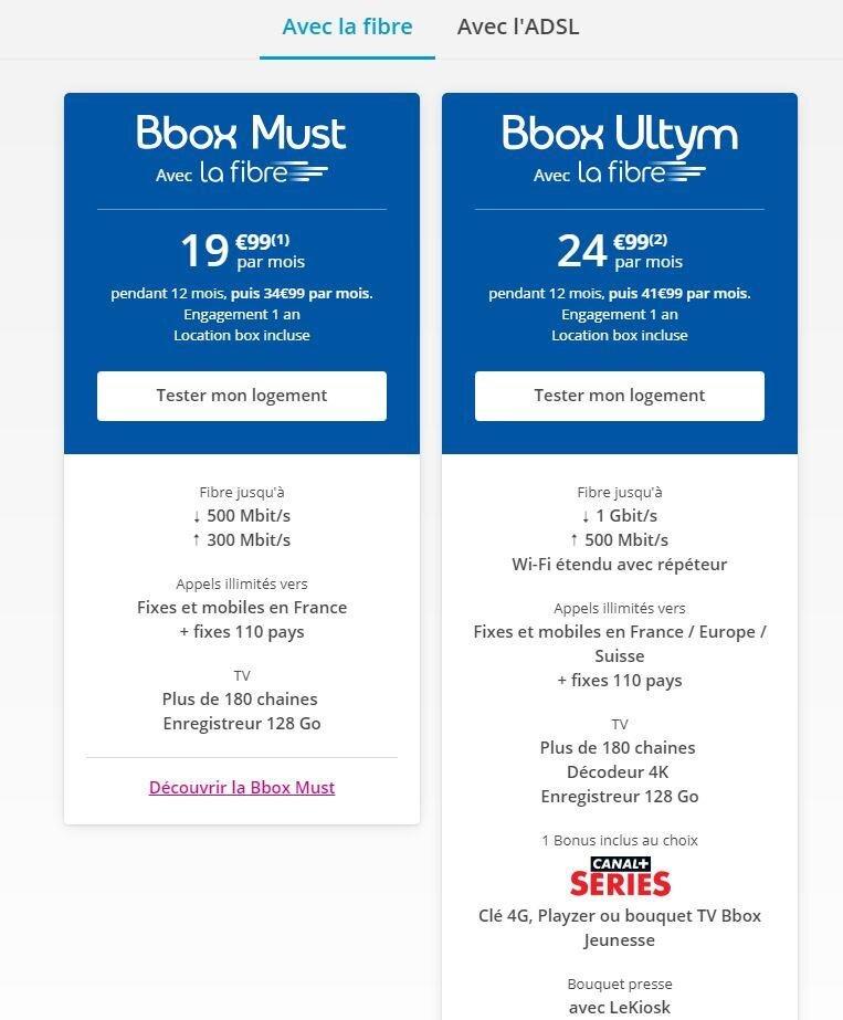 Bbox Bouygues Telecom mars 2019