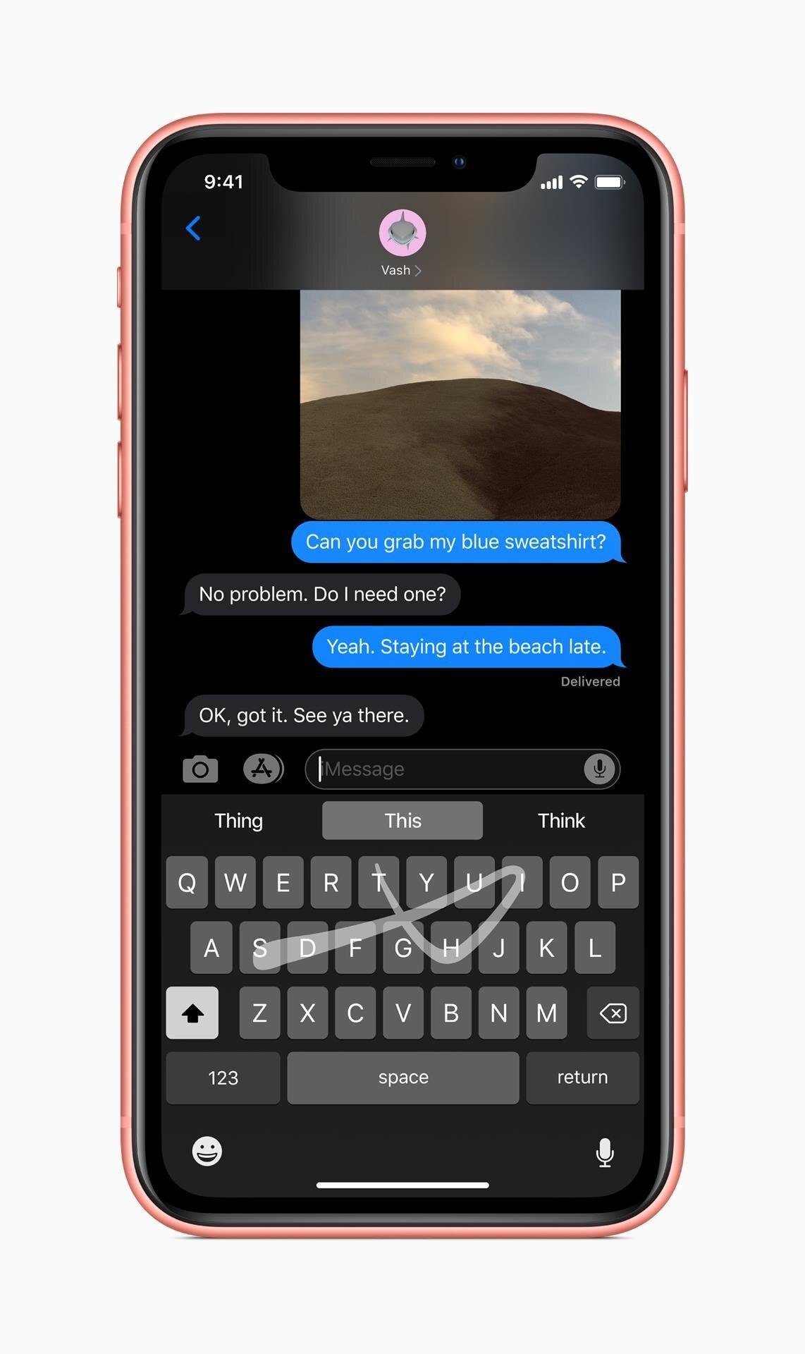 iOS 13 mode sombre