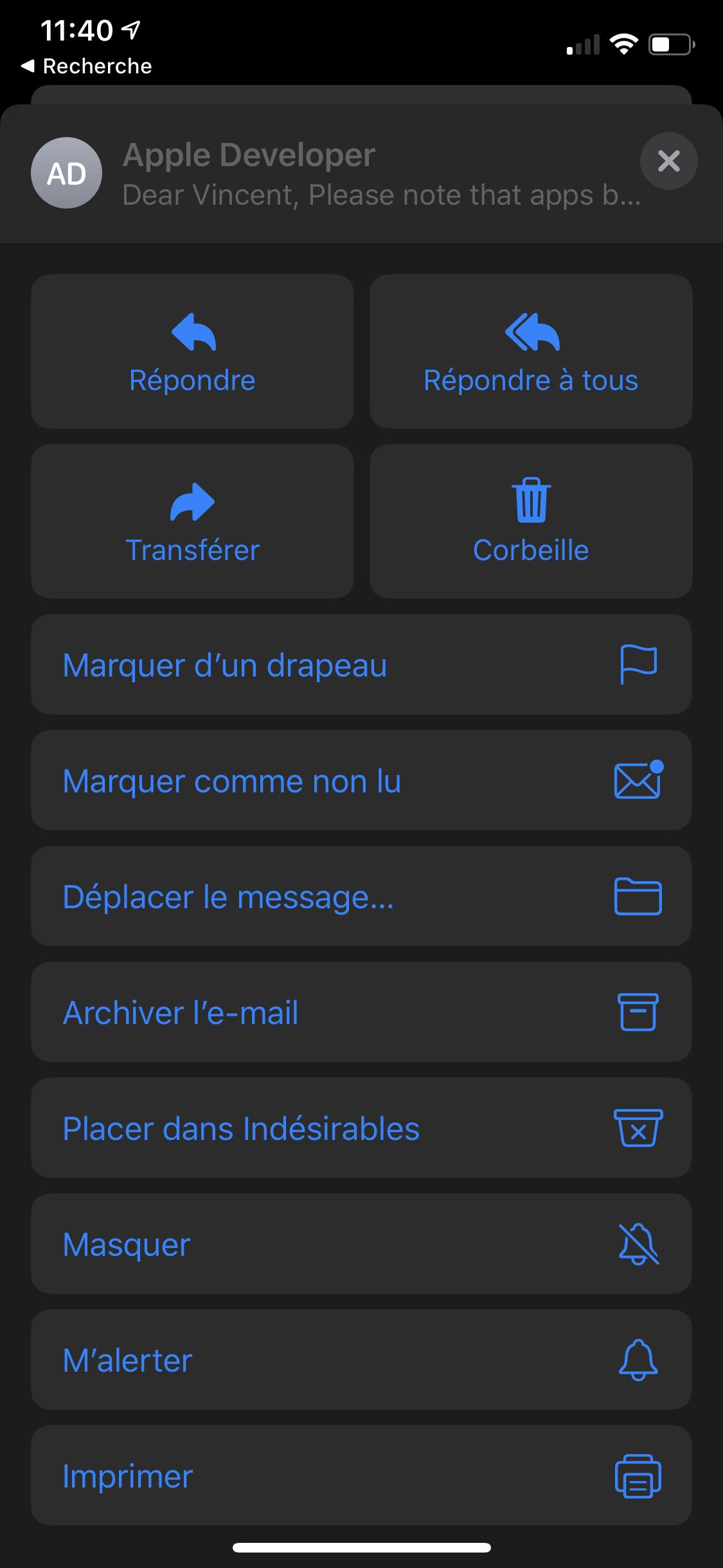 iOS 13 Mail
