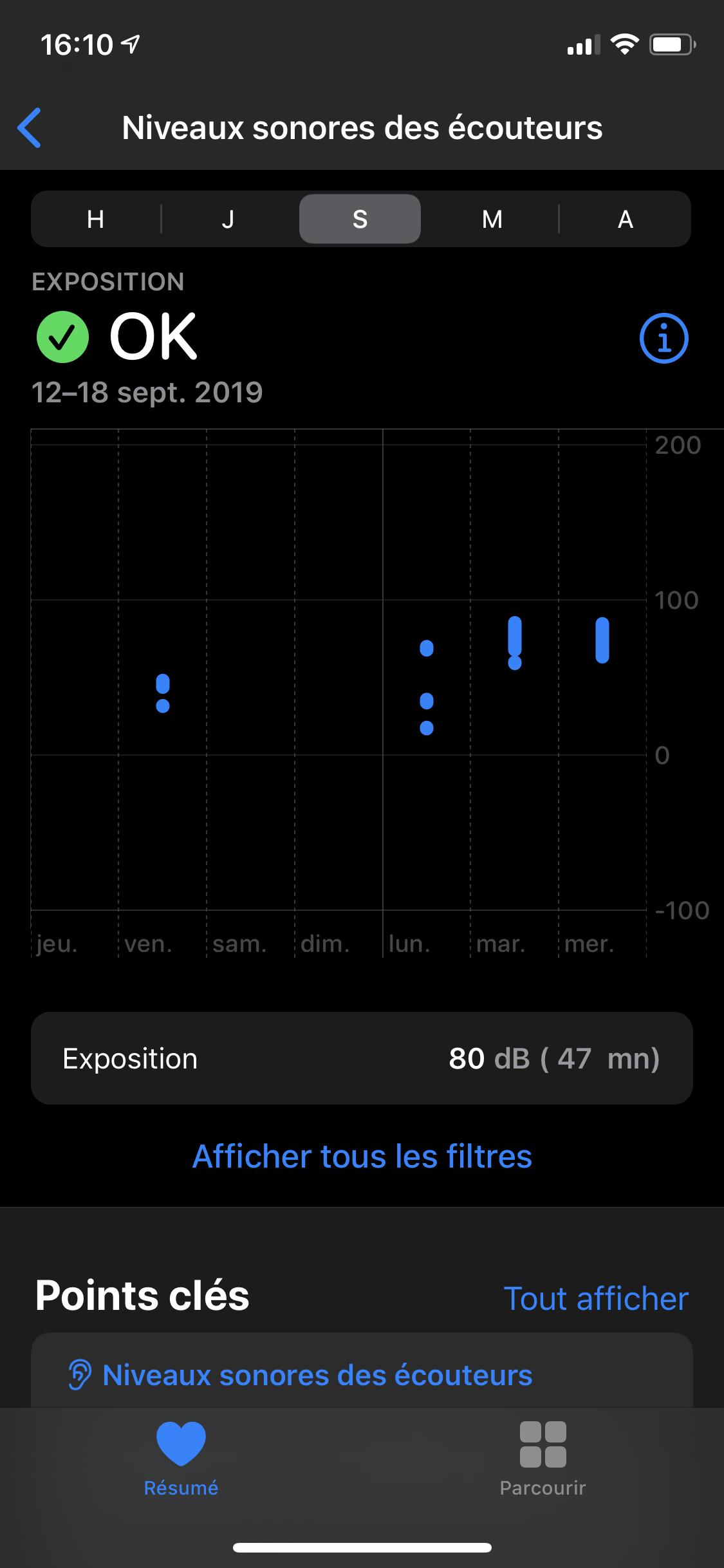 iOS 13 Santé