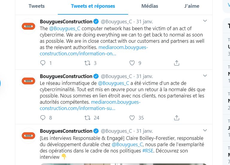 Twitter Bouygues Construction