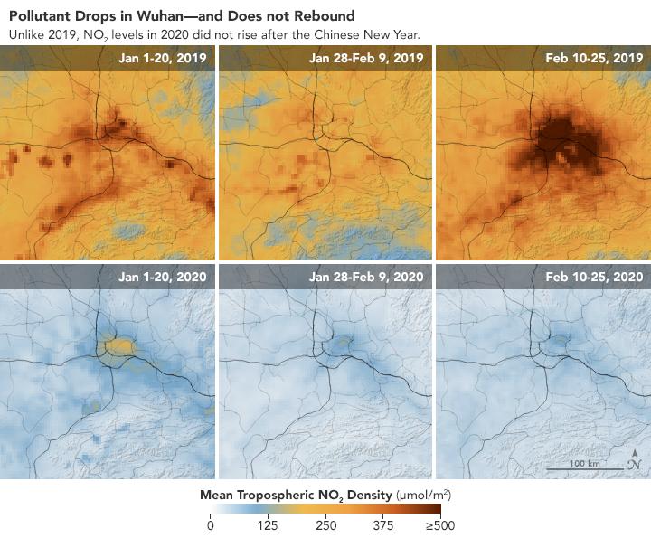ESA NASA Chine pollution