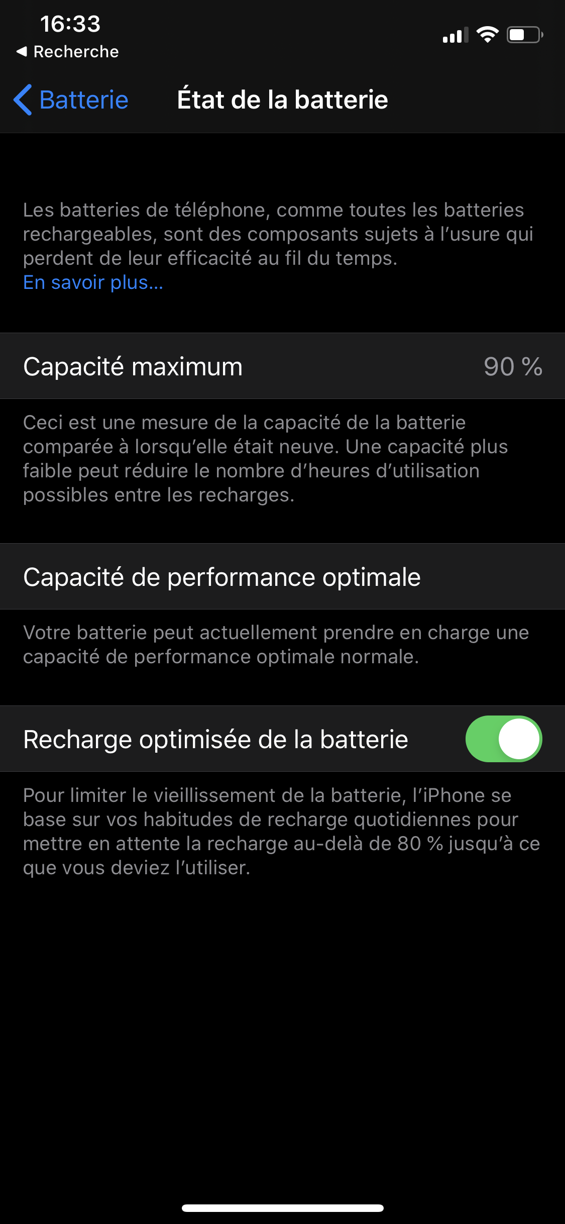 iPhone batterie autonomie