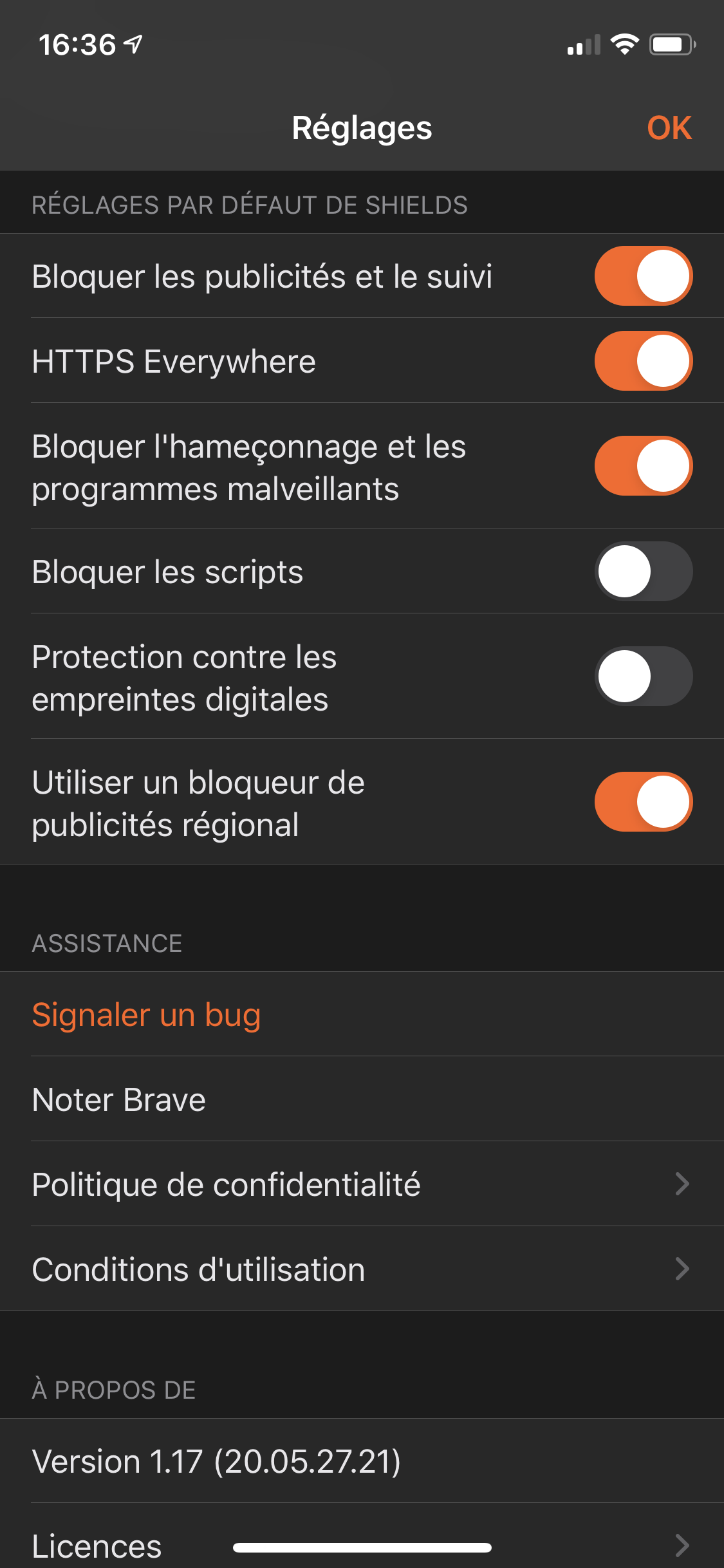 Brave mobile