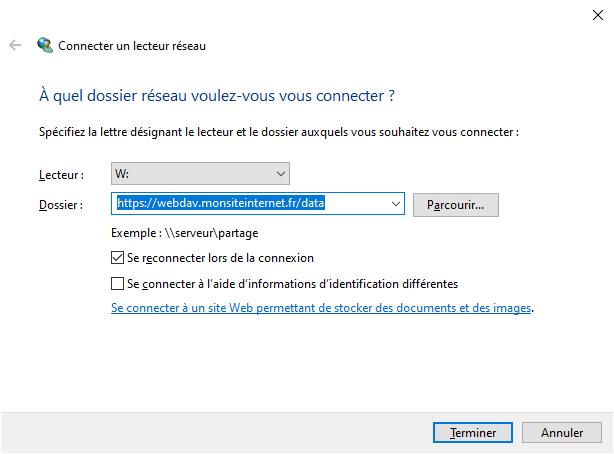 WebDAV Windows 10