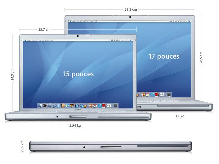apple lance ses nouveaux macbook pro core 2 duo. Black Bedroom Furniture Sets. Home Design Ideas