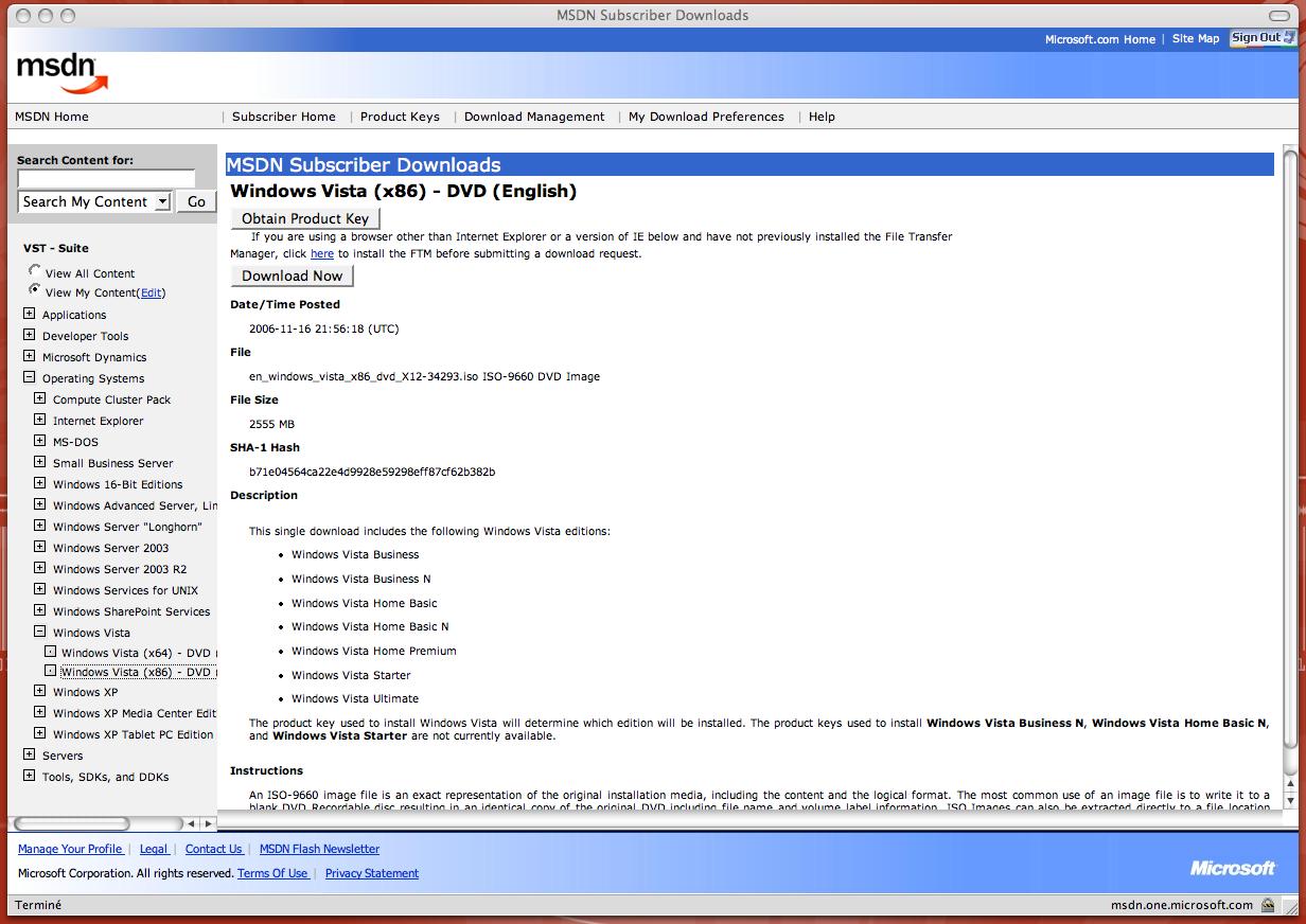 La RTM de Windows Vista est enfin disponible