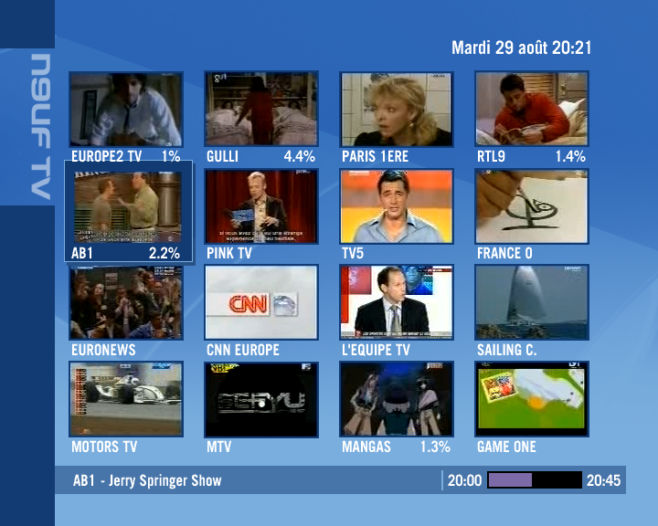 programme tv hd