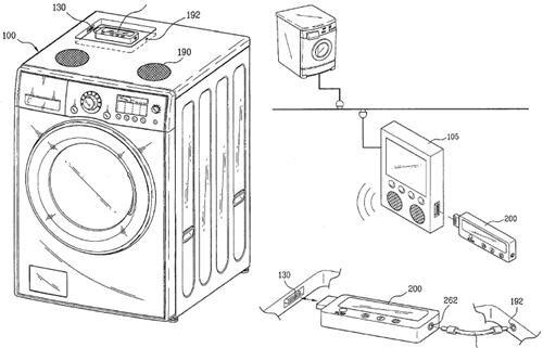 une machine laver avec lecteur mp3 int gr. Black Bedroom Furniture Sets. Home Design Ideas