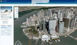 virtual earth maps 3D google microsoft