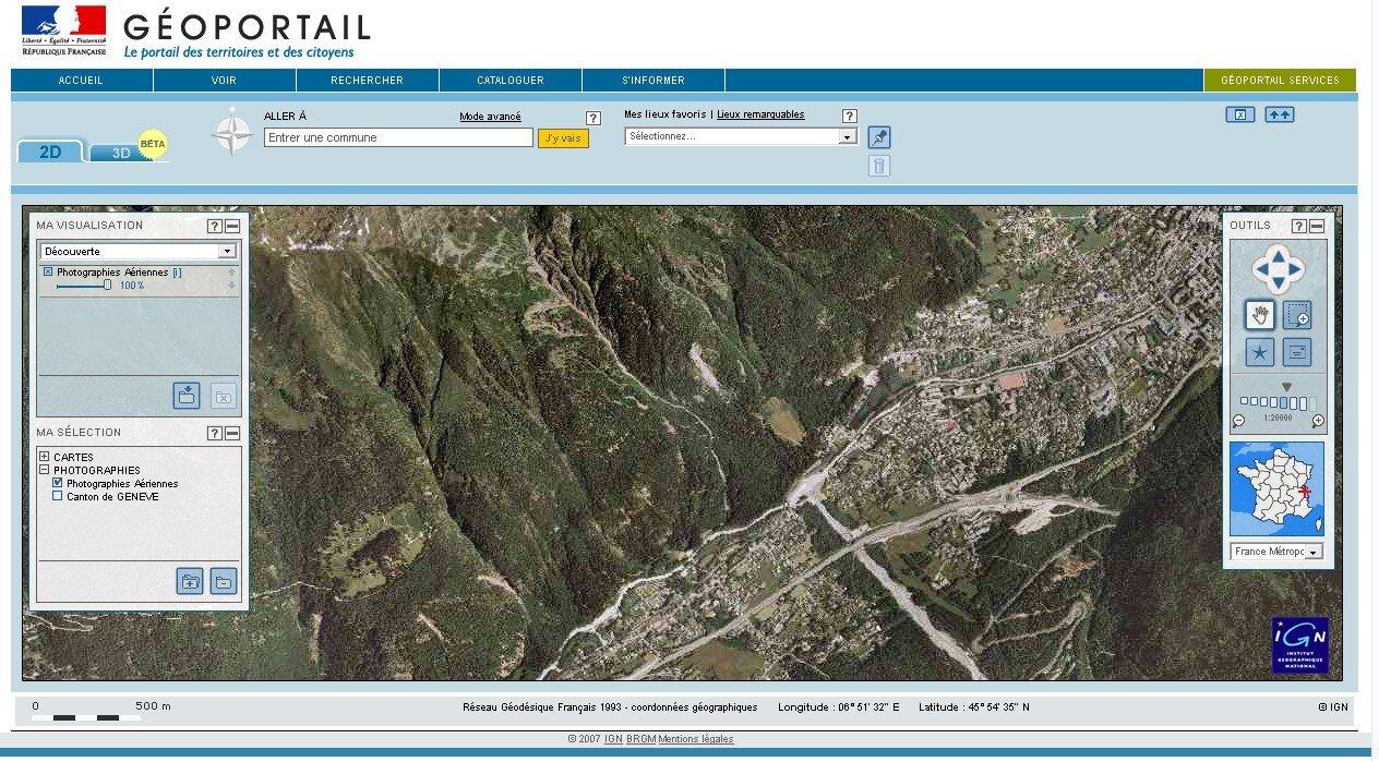 geoportail 3d gratuit