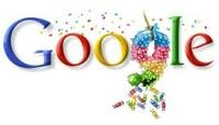 Google Neuf ans Logo