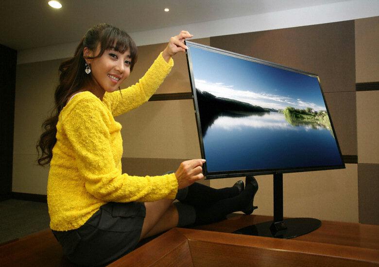samsung l 39 cran lcd 40 pouces 1080p le plus fin du monde. Black Bedroom Furniture Sets. Home Design Ideas