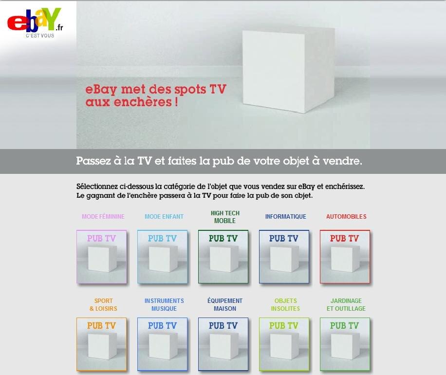 ebay met aux ench res dix spots tv la gloire de vos ventes. Black Bedroom Furniture Sets. Home Design Ideas