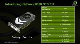 GeForce 8800GTS v2 512 Mo