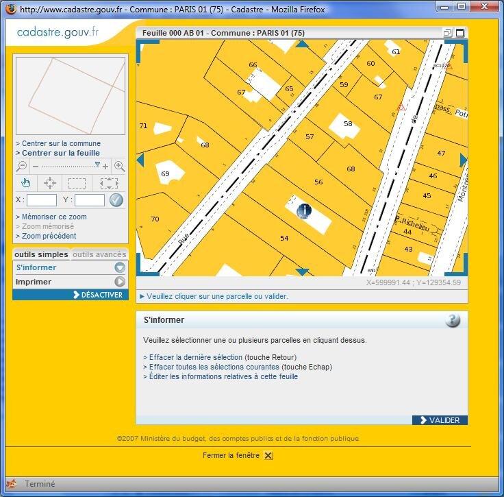 E administration le plan cadastral accessible en ligne for Plan en d gratuit en ligne