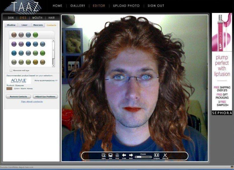 essayage de coupe de cheveux en ligne homme