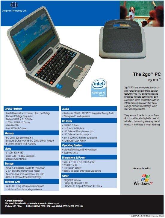 2go PC : le nouvel ultraportable d'Intel 9