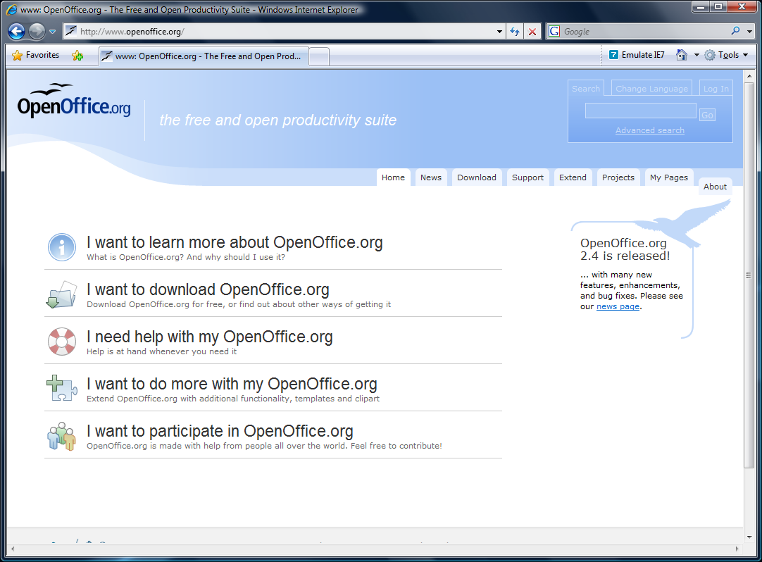 Est disponible en version 2 4 0 - Open office 4 en francais ...