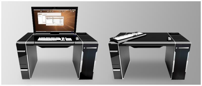 Gain d 39 espace et de fonctionnalit s le bureau ordinateur - Bureau informatique design ...