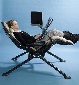 Zero gee la station de travail vivre allong - Zero gee ergonomic workstation ...