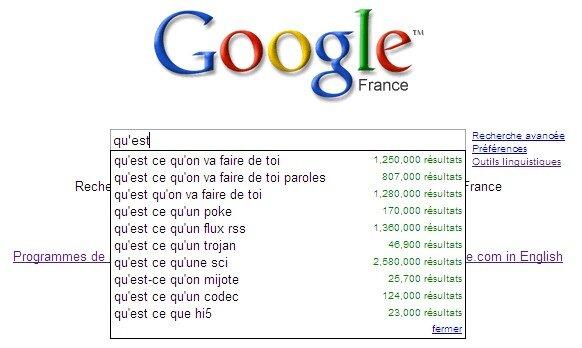 Insolite Recueil Des Suggestions De Google