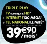 Numericable Belgique Triple-Play