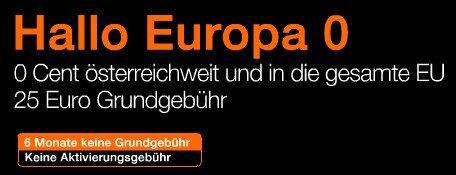 Orange ONE Autriche Hallo Europe 0